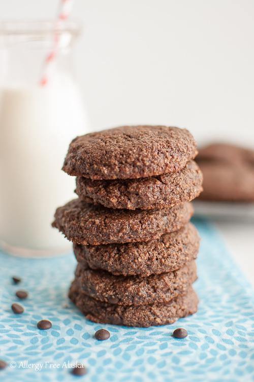 Paleo Double Chocolate Mint Cookies Recipe - Allergy Free Alaska