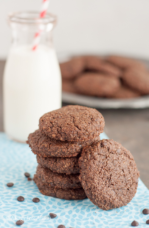 Paleo Double Chocolate Mint Cookies Recipe from Allergy Free Alaska