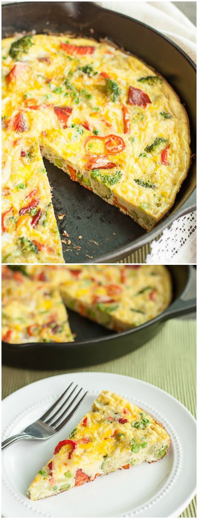 Smoked Salmon & Veggie Frittata - Super easy and delicious recipe!