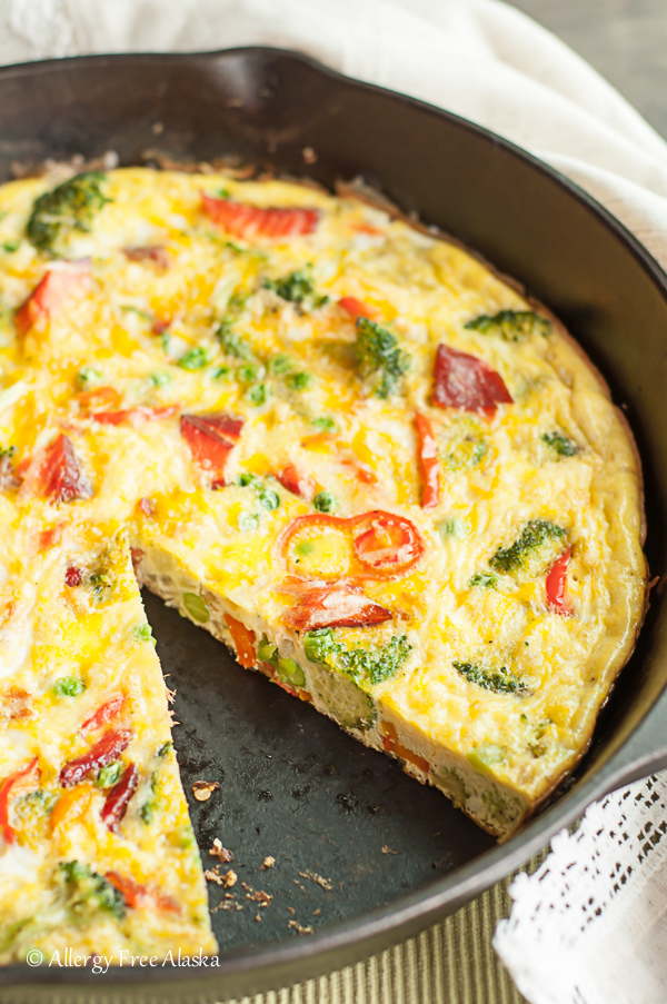 Smoked Salmon and Veggie Frittata - Allergy Free Alaska