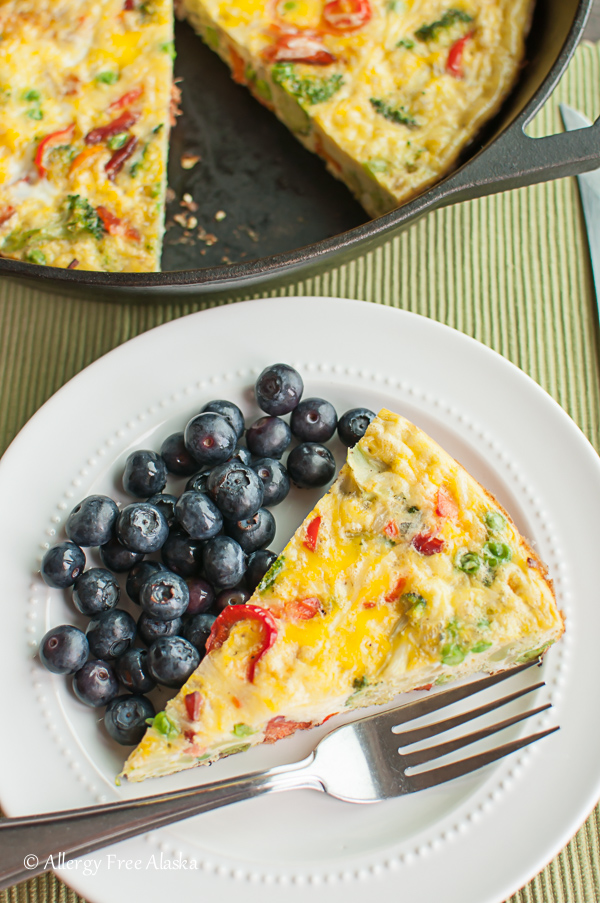 Smoked Salmon and Veggie Frittata from Allergy Free Alaska