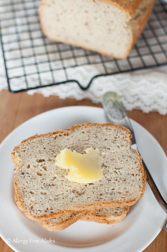 Gluten Free Vegan Sandwich Bread Recipe from Allergy Free Alaska
