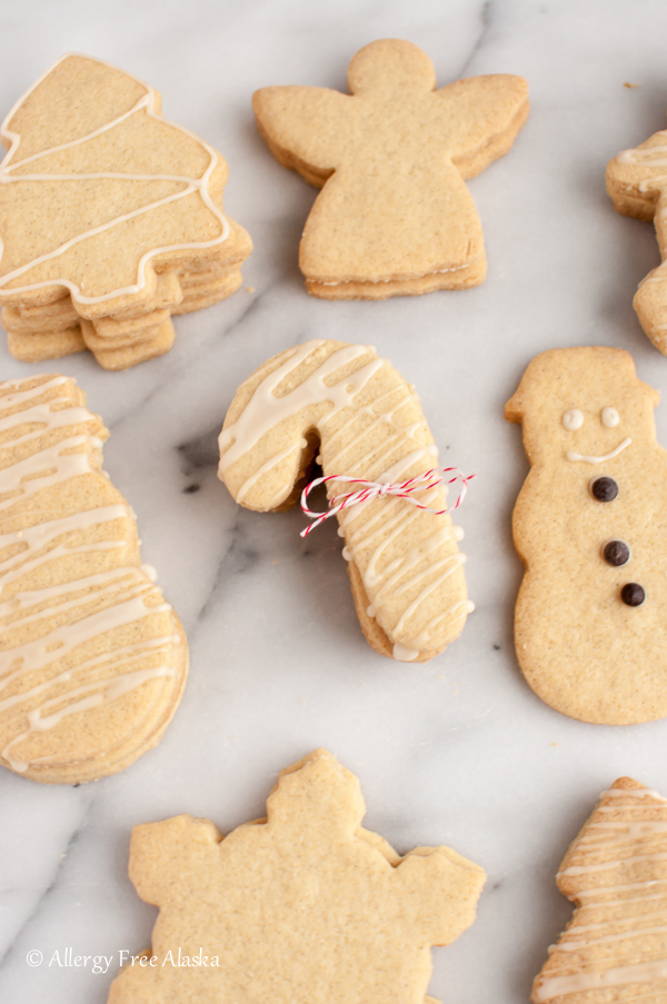 Gluten Free Dairy Free Sugar Cookie Cut Outs from Allergy Free Alaska