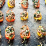 Sausage Stuffed Mini Peppers with Kale