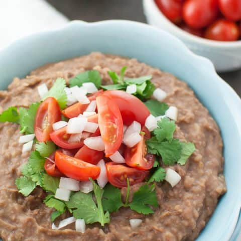 overhead instant refried beans