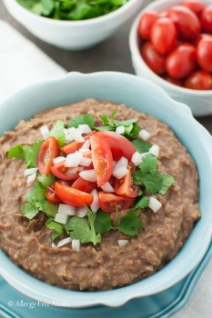 overhead instant pot refried beans