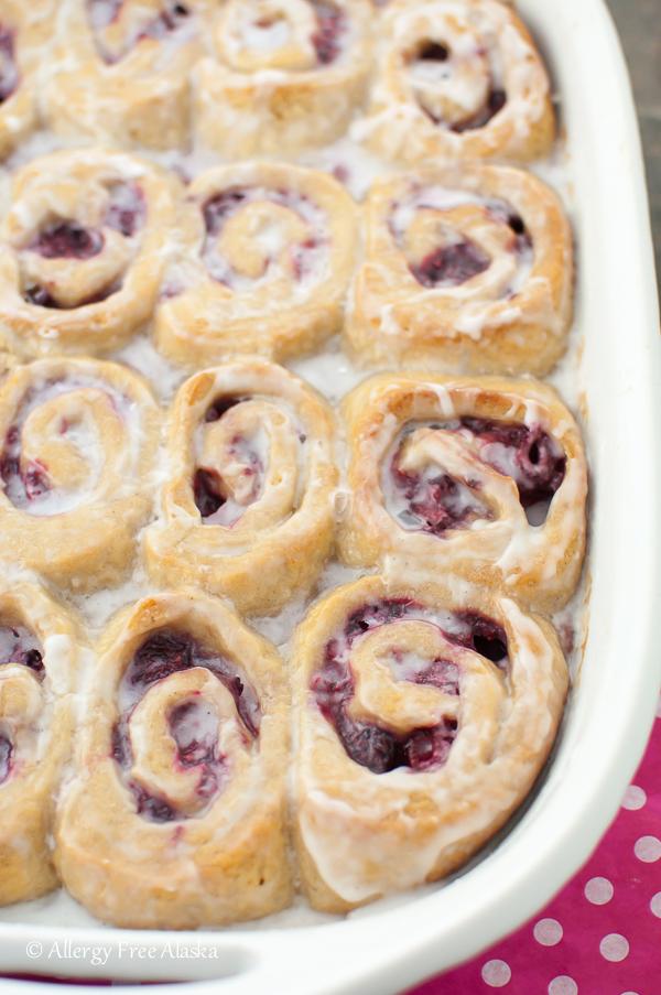 Gluten-Free Vegan Raspberry Sweet Rolls Recipe - Allergy Free Alaska