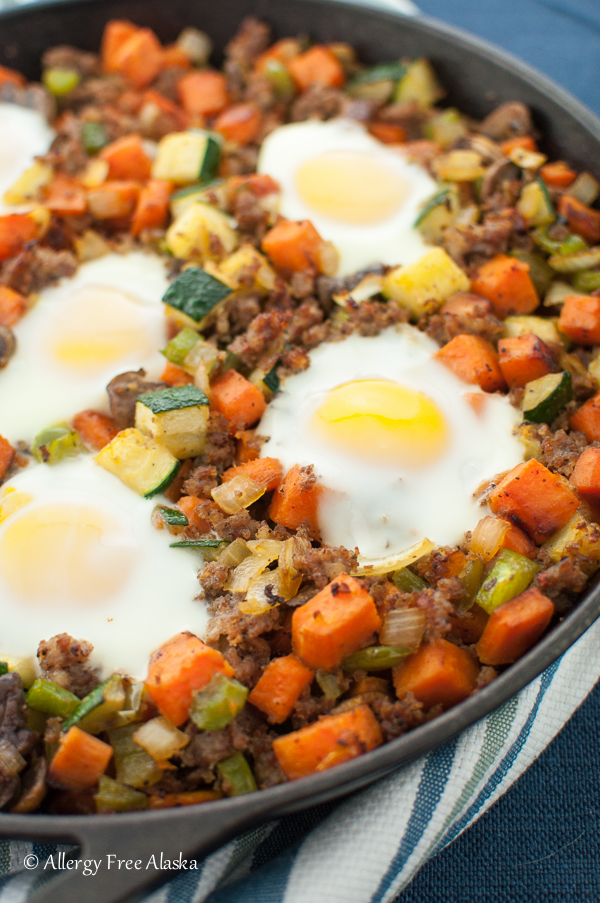 Sausage and Sweet Potato Skillet Recipe - Allergy Free Alaksa