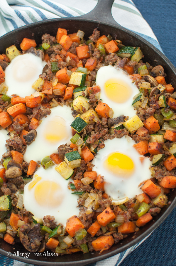 Sweet Potato Skillet with Sausage Recipe - Allergy Free Alaska