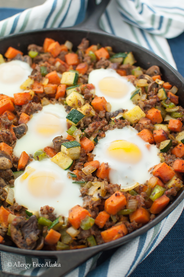 Delicious Sweet Potato Skillet with Sausage - perfect for breakfast or dinner, any day of the week!