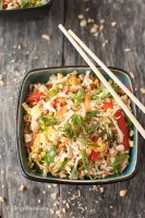 Asian Chicken Salad with Spicy Sriracha Dressing Recipe