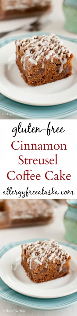 Cinnamon Streusel Coffee Cake {gluten-free, dairy-free} Recipe from Allergy Free Alaska