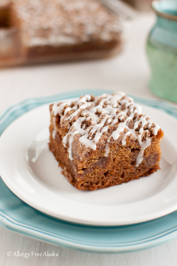 Gluten-Free Cinnamon Streusel Coffee Cake Recipe from Allergy Free Alaska