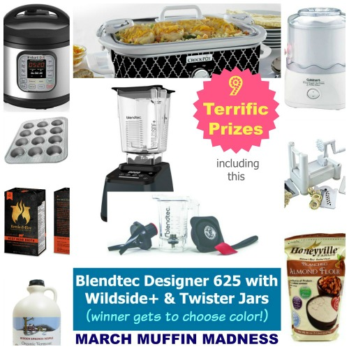 March Muffin Madness Blendtec Giveaway Collage Final