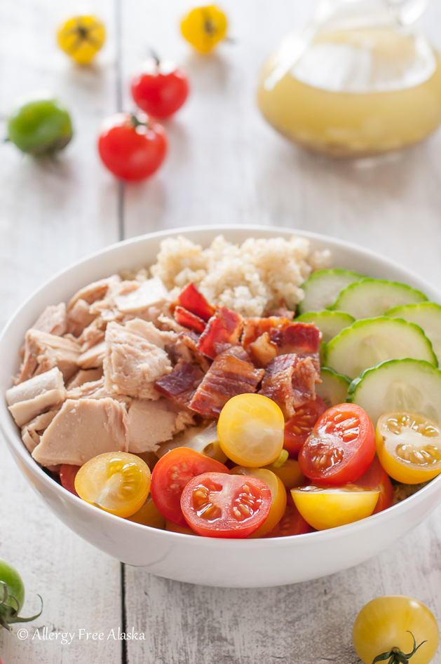 Tuna and Bacon Quinoa Bowl Recipe - Allergy Free Alaska Blog