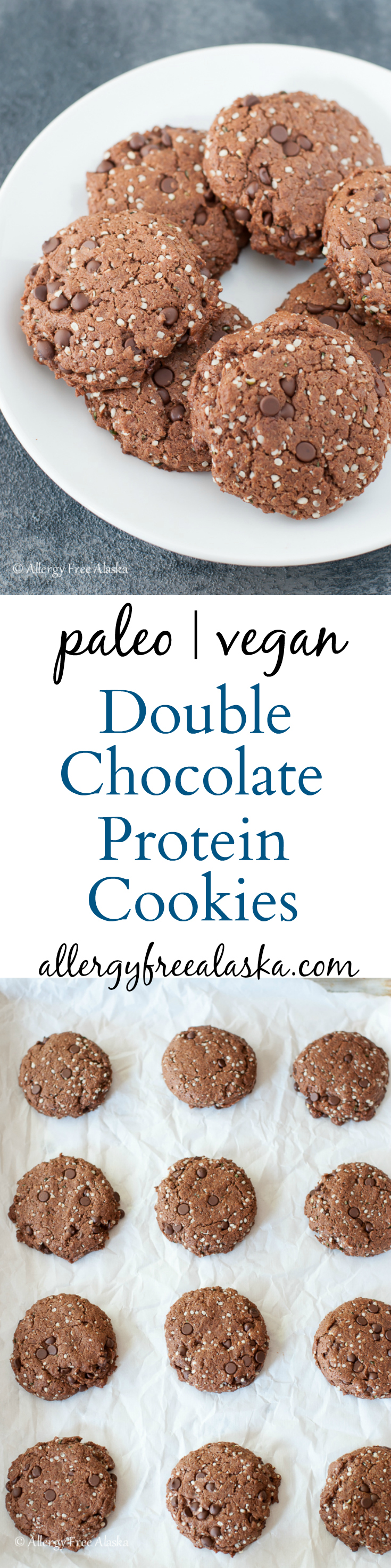 Double Chocolate Protein Cookies Recipe from Allergy Free Alaska