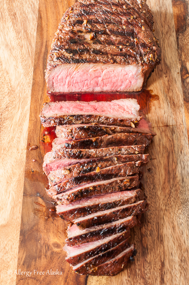Gluten Free Marinated and Grilled London Broil Recipe from Allergy Free Alaska