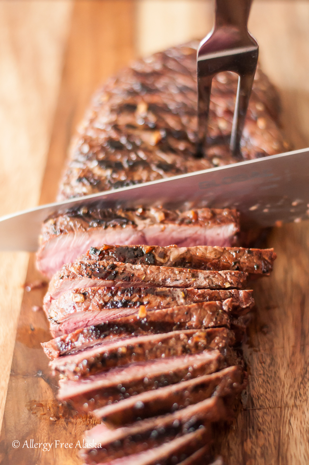 Recipe from Allergy Free Alaska - Gluten-Free Grilled and Marinated London Broil