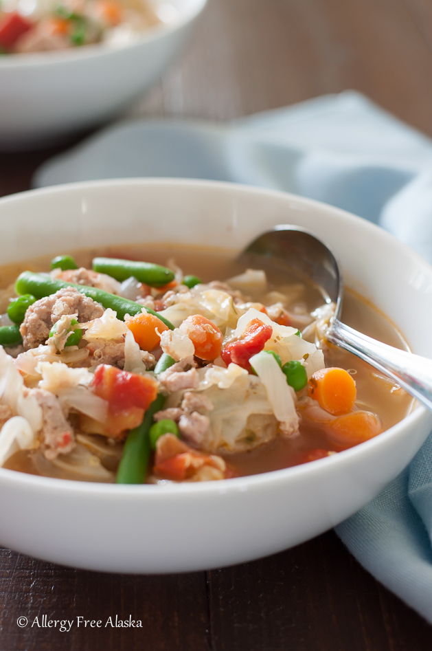 Ground Turkey and Garden Vegetable Soup Recipe from Allergy Free Alaska