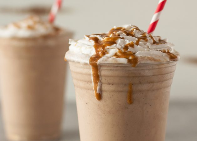 Rich and creamy dairy-free/Vegan Salted Caramel Frappuccino recipe