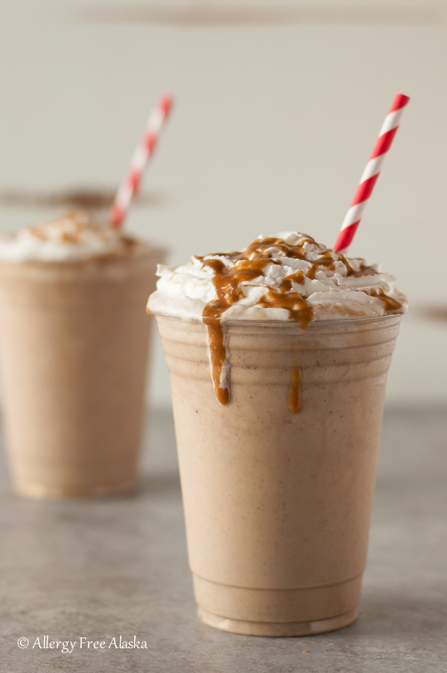 Vegan Salted Caramel Frappuccino Recipe - Allergy Free Alaska
