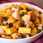 Roasted Butternut Squash with Apples, Tart Cherries and Walnuts