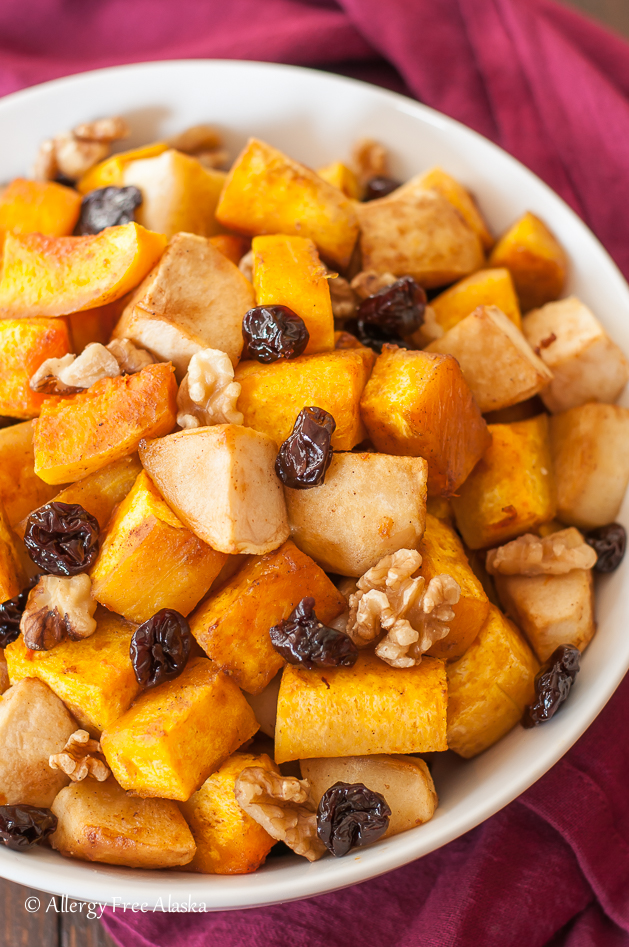 Roasted Butternut Squash with Apples, Tart Cherries and ...