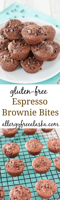 Gluten Free Espresso Brownie Bites