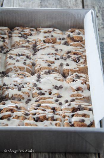 Gluten Free Vegan Chocolate Chip Cookie Sweet Rolls