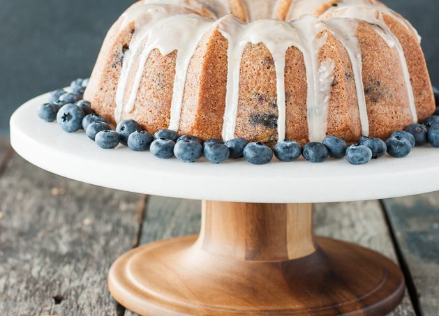Gluten Free Dairy Free Blueberry Lemon Bundt Cake Recipe