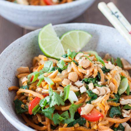 Thai Chicken & Sweet Potato Noodle Bowls Recipe
