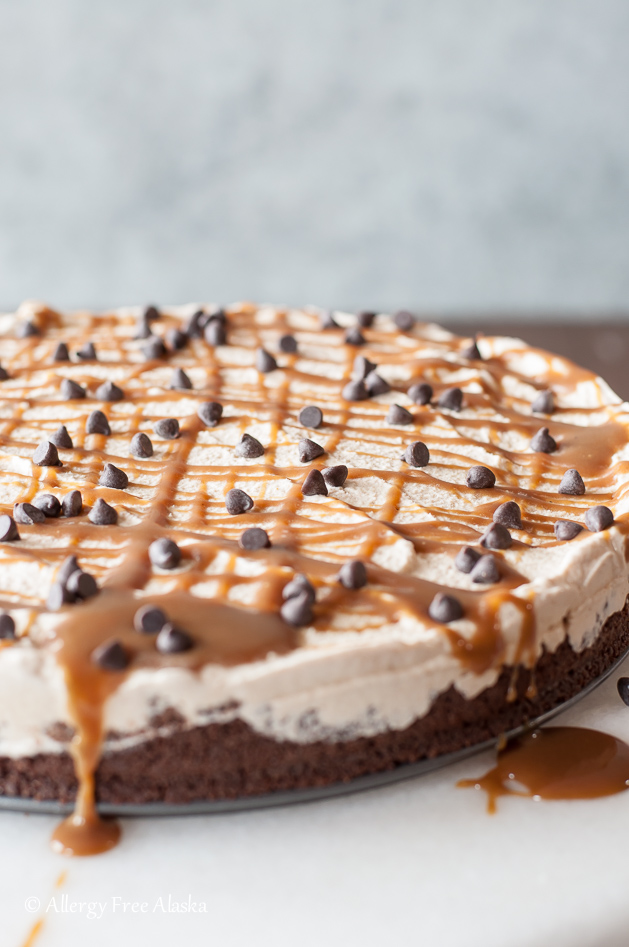 Dairy-Free Salted Caramel Ice Cream Pie