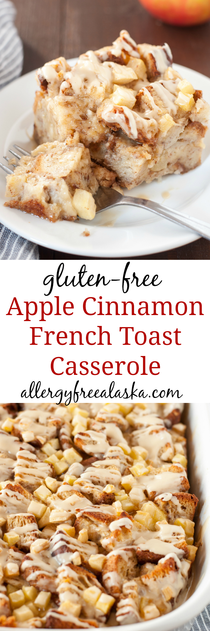 Gluten Free Apple Cinnamon French Toast Casserole Recipe