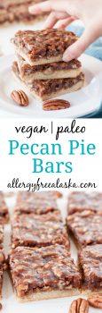 Vegan Paleo Pecan Pie Bars