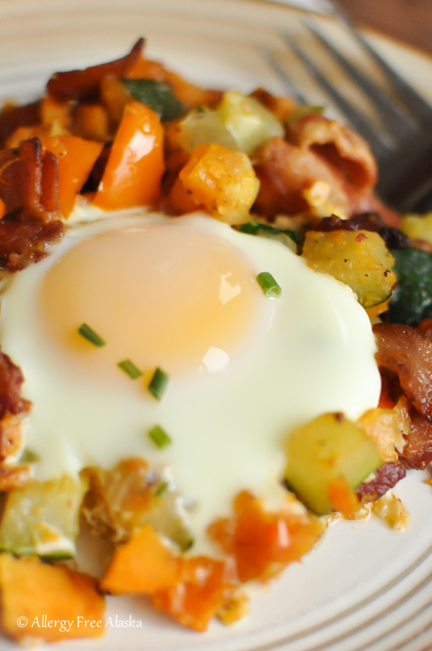 Sweet Potato Breakfast Skillet with Bacon Recipe