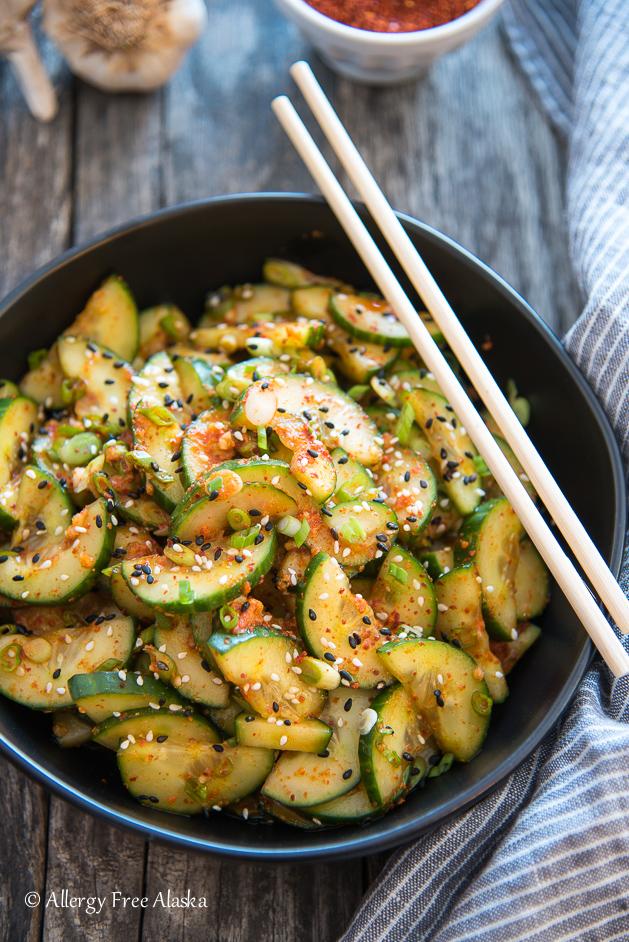 Quick Kimchi Cucumbers Recipe
