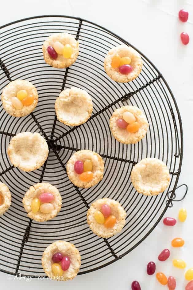 Gluten free vegan coconut macaroon nests allergy free alaska these gluten free vegan coconut macaroon nests are such a fun allergy friendly easter treat filled with organic jelly beans they are totally dye free and negle Image collections