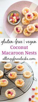 gluten free vegan coconut macaroon nests