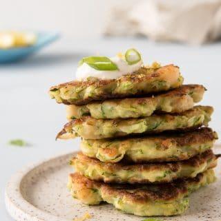 Gluten Free Zucchini Shrimp Fritters