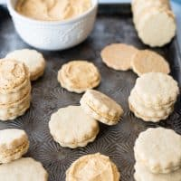 Gluten Free Pumpkin Spice Sandwich Cookies
