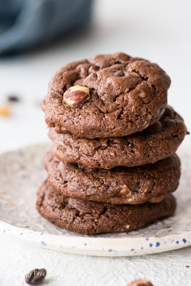 Gluten Free Mocha Hazelnut Cookies