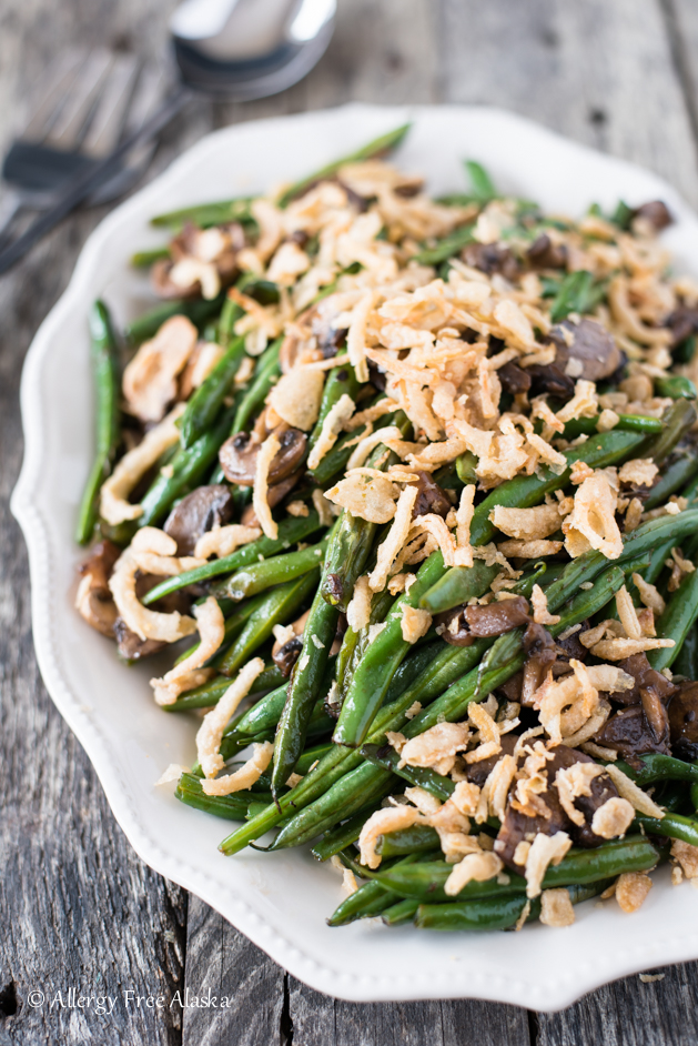 Gluten Free Sautéed Green Beans and Mushrooms