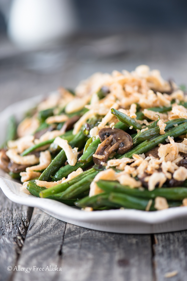 Gluten Free Sautéed Green Beans and Mushrooms - Allergy Free