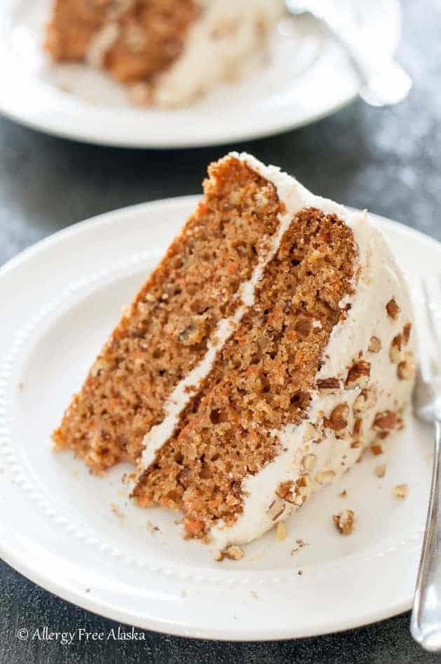 dessert recipes gluten free dairy free Gluten Free Carrot Cake