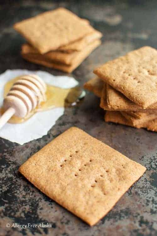Homemade Gluten-Free Graham Crackers are crispy, naturally sweetened, and even better than the originals! They're a total crowd pleaser!