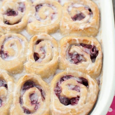 Gluten Free Vegan Raspberry Sweet Rolls
