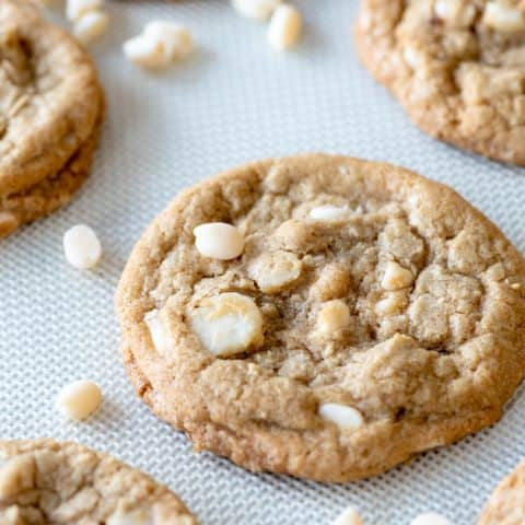 Gluten Free White Chocolate Macadamia Nut Cookies