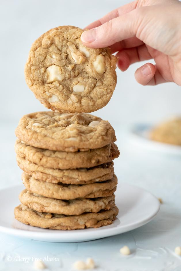 Gluten Free White Chocolate Macadamia Nut Cookies - Allergy Free Alaska