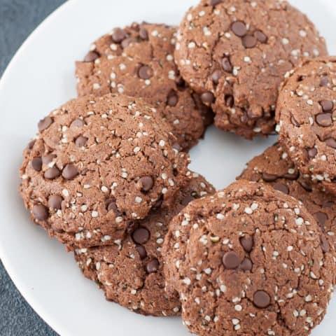 Paleo Vegan Double Chocolate Protein Cookies