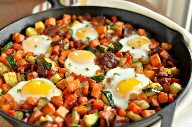 Sweet Potato Breakfast Skillet with Bacon